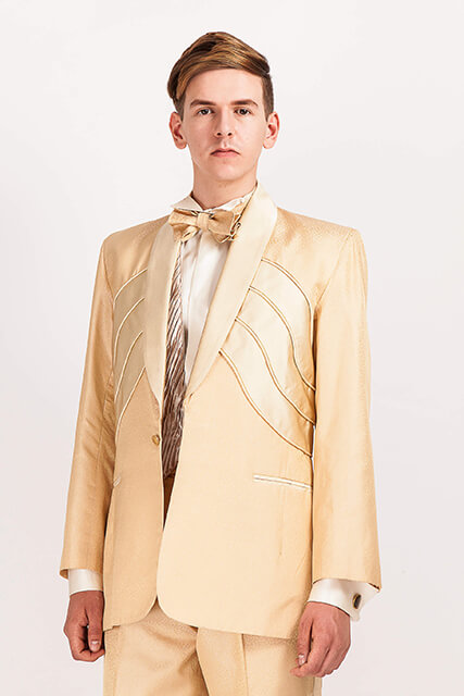 Elvis/703..Gold Silk Jacquard suit..custom made