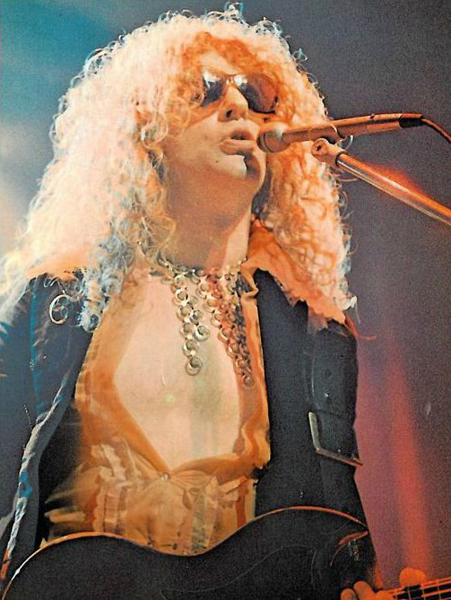 Ian Hunter, of Mott the Hoopie, in Malcolm Hall jacket, circa 1973