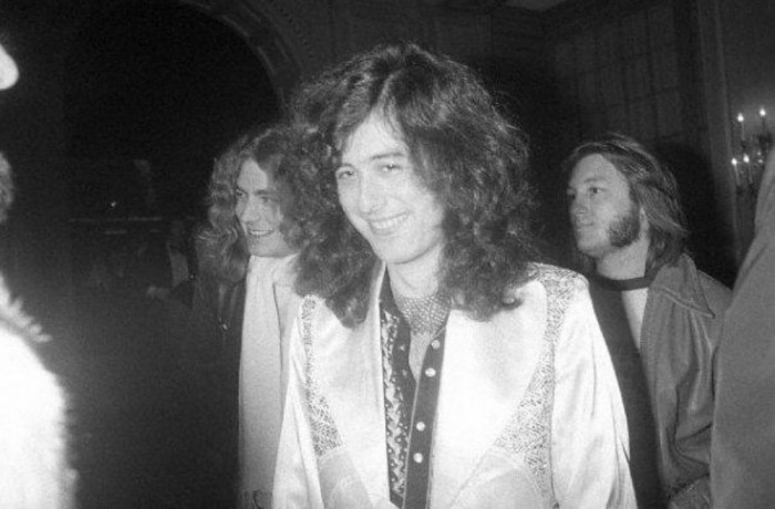 Led Zeppelin's Jimmy Page in Malcolm Hall suit, circa 1972