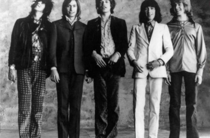 The Rolling Stones: Bill Wyman in white Malcolm Hall suit