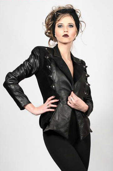 NICO Leather and Velvet Jacket