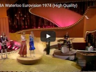 Abba wearing Malcolm Hall, Eurovision 1974