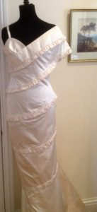 Duchess Silk Satin Wedding Gown