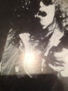 Ian Hunter of Mott the Hoople...wearing Malcolm Hall