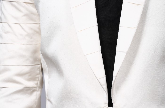 Legend/Silk Tuxedo…pleated sleeves and collar..custom made…£595…Hire £50..Tux only