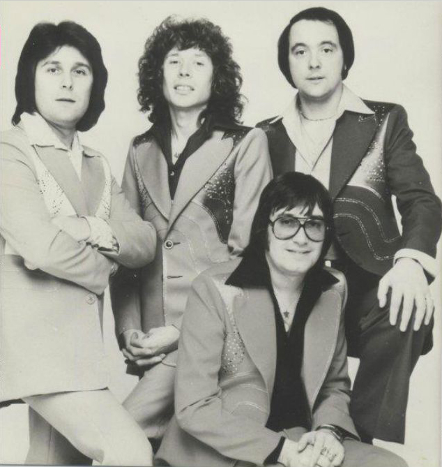 Mud, in Malcolm Hall suits, circa 1974