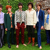 Vintage denim Malcolm Hall suit (2nd from right) modelled at Nicky Haslem's talk on Dandyism and English Boy Style, at the 2011 Port Eliot Festival. With Ossie Clark, Alkasura, Mr Fish and Granny Takes a Trip vintage pieces. Many thanks to Mark and Cleo Butterfield, of C20 Vintage Fashion, for their kind permission to use the image