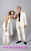 White silk dupion custom made suits