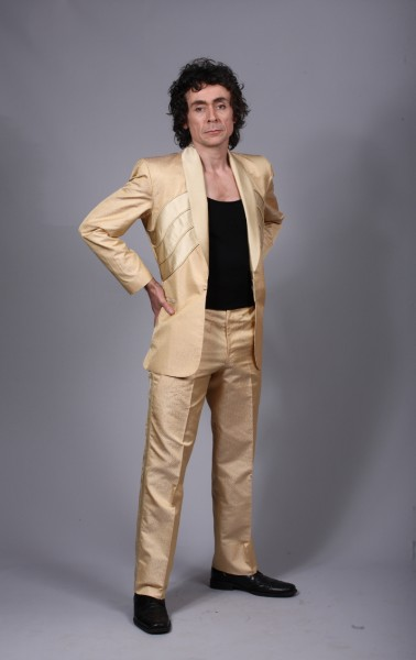 Elvis/Gold Silk suit